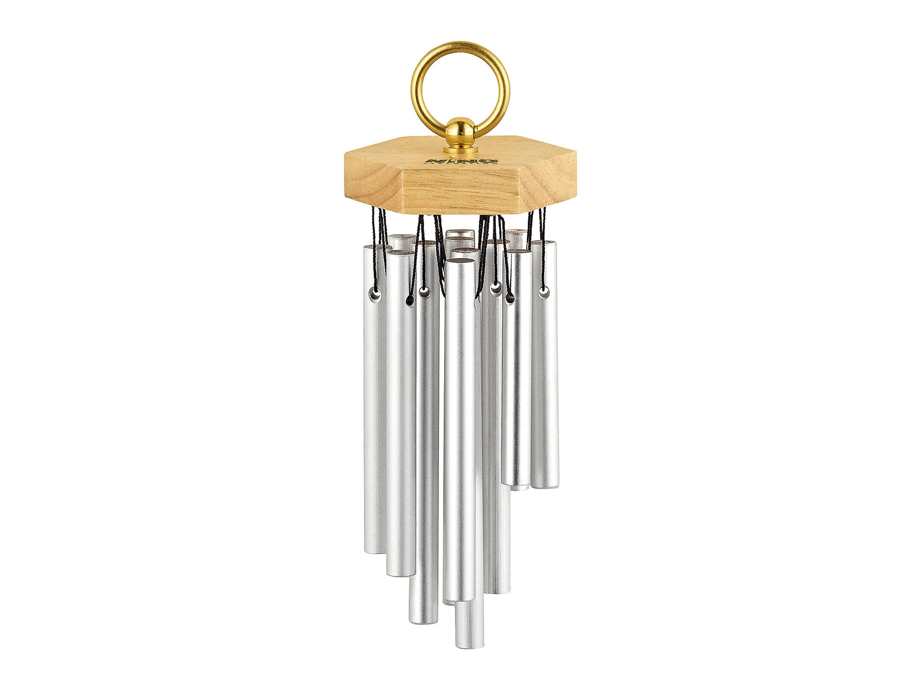 Mini Hand Chimes anodized aluminium silver 12 bars